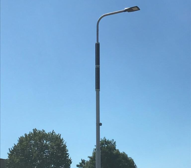 Lantaarnpalen op zonnepanelen