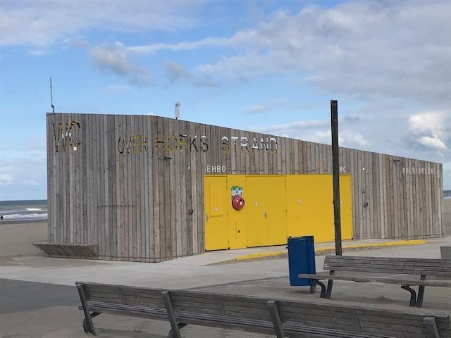Strandgebouw in 'De Hoek'